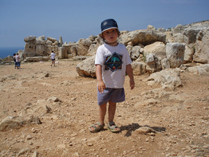 The temples at Mnajdra date from 3000B.C.