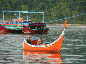 Aceh fishing boat and Palong in the background