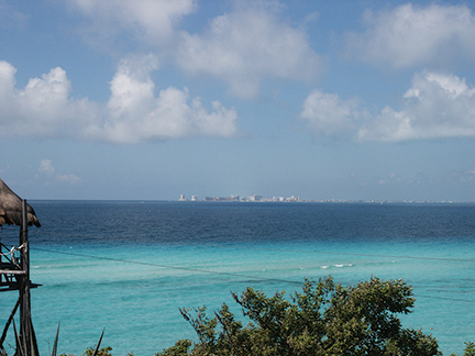 Cancun as seen from Isla Mujeres