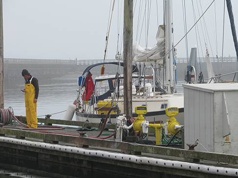 Brian at the dock before the journey begins, Grays Harbor, WA