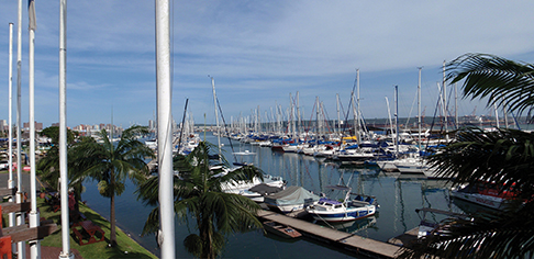 Point Yacht Club marina in Durban, South Africa