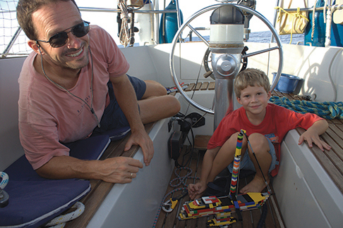 There is plenty to do onboard for an eight year old