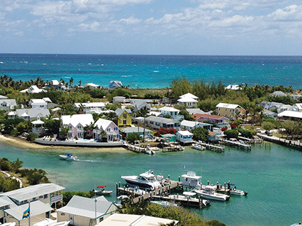 View of  Hopetown Harbor from the lighthouse