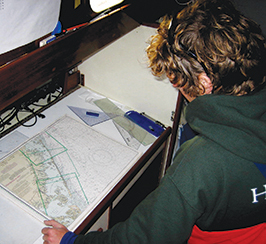 Seth at the navigation table