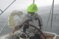 Tony steering in gale
