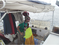 Drying clothes while at sea
