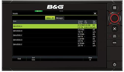 B&G Zeus2 AIS Status Messages HR PRG