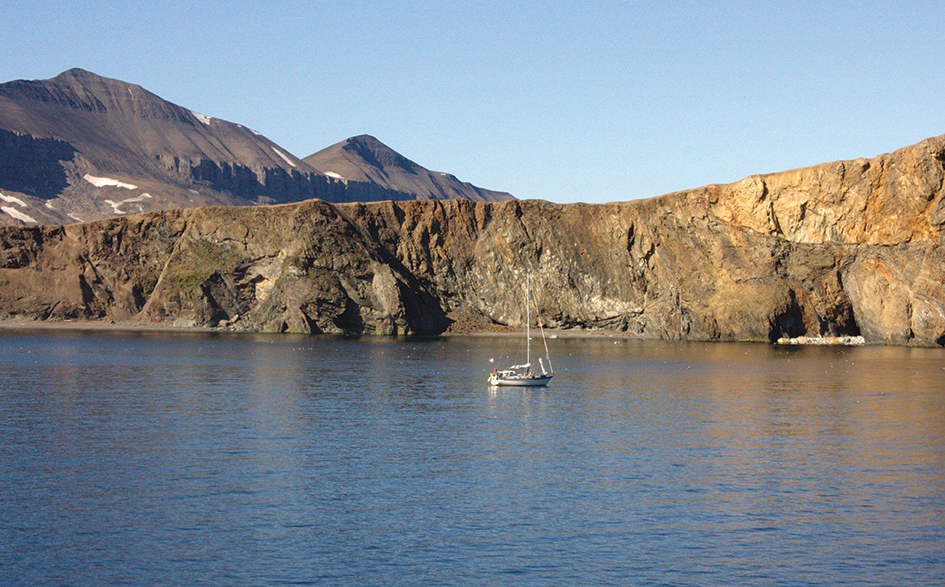 At anchor in Sorhamna, Boroya