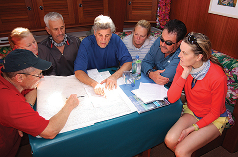 Mid-ocean weather and passage planning class