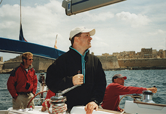Sailing under an experienced skipper instructor, here off Malta, helped us gain confidence as sailors