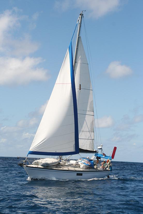 Namani under sail and underway