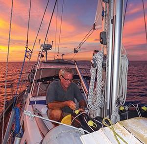 Jim readies Tenaya for passage from PNG to Palau