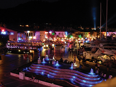 The bustling town of Marmaris is a good place to start a cruise in Turkey