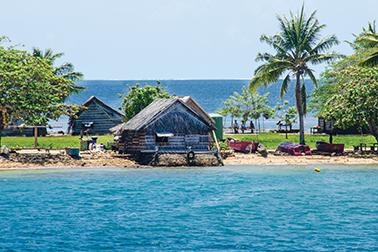 The village of Luf at Hermit Islands