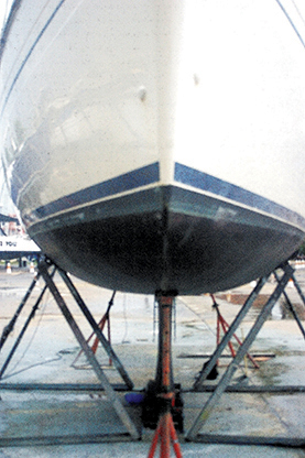 Out of the water is the time to check the hull