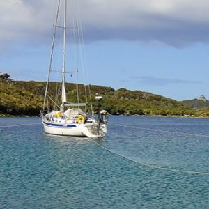 Tenaya secure in Evening Cove Pt Pegasus