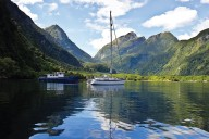 anchored at the head of Doubtful Sound
