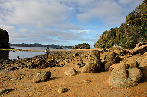 Exploring Ulva Island in Paterson Inlet