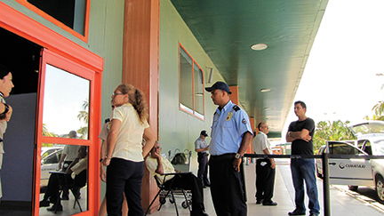 Ever present Customs and Immigration officers keep an eye on the movements of foreigners and Cubans