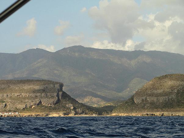 Cliffs of Cuba's south coast, just past Guantanamo Bay