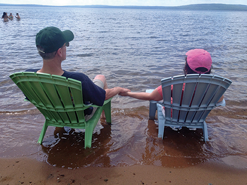 Steve and Dodie Gomer enjoying the beauty of the Apostle Islands