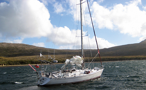 Anchored in Caleta Martial after rounding Cape Horn