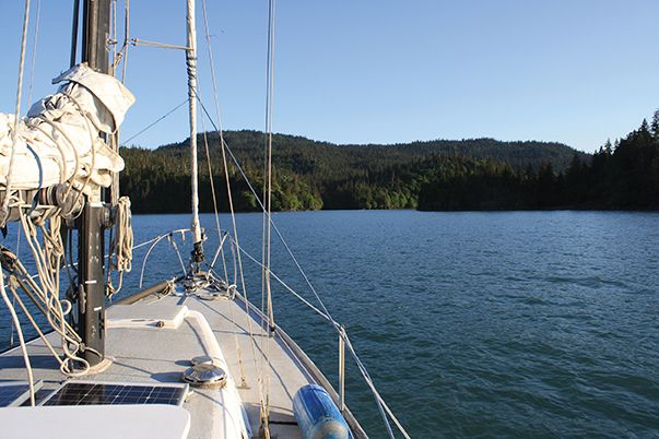 Entering Halibut Cove