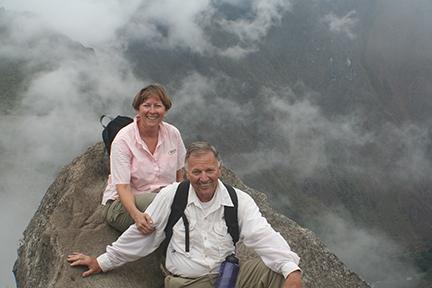 The author with her husband at Machu Pichu, Peru