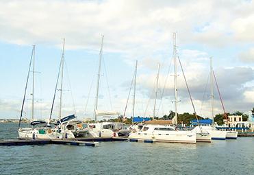 Charter fleet in Cienfuegos