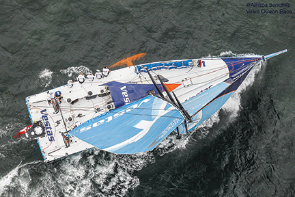 June 6, 2015. The Leg 8 start in Lisbon; Team Vestas Wind