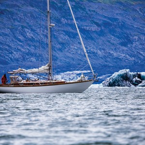 01 Nosing up to Columbia Glacier, Alaska