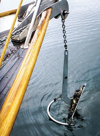 Celeste's 45lbs Mantus anchor