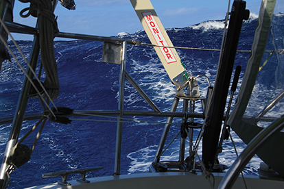 Following seas from Cocos Island to Rodrigues