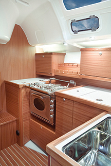 Delphia 40 galley