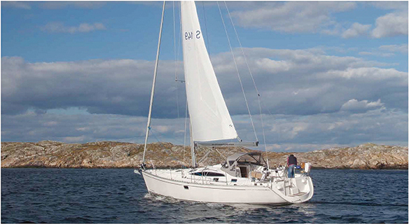Delphia 40.3 stern