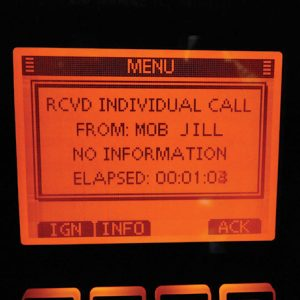 HIcom IC-M506 DSC MOB Alert   No question as to the nature of the alert