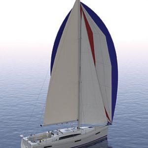 Catalina 425 Prelim sail plan aft perspective