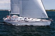 Hemith IV, Swan 56, sailing on Narragansett Bay, Quantum Sails.
