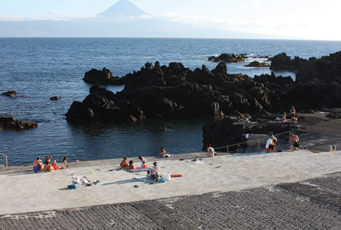 saltwater lava town swimming pool