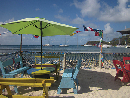 Last bar before the Jungle, Mayreau