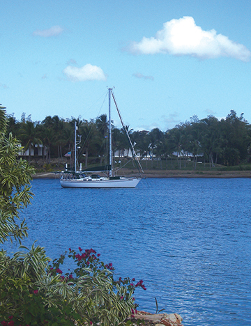 At anchor, Casa de Campo