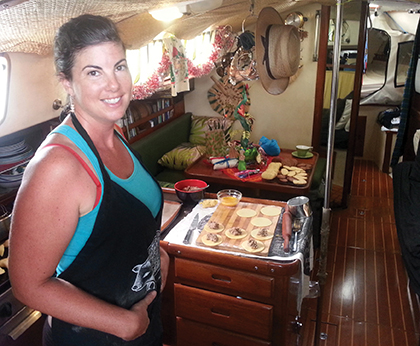 Happy in the galley during the holidays