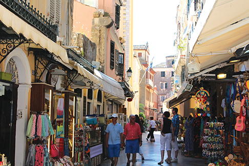 Wandering the streets of Corfu