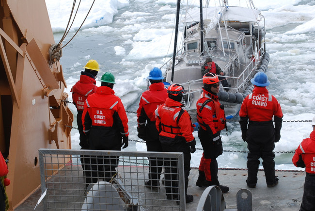 Coast Guard icebreaker rescues man aboard sailboat trapped in Arctic ice