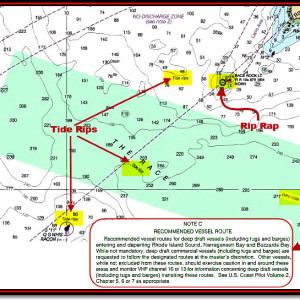 "What nautical chart symbols warn of strong currents, dangerous ""erosion"" rocks or busy shipping routes? Sail safer on the waters of the world when you know the most vital chart symbols used on your nautical and electronic charts. Read more below."