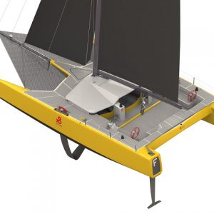 DNA F4 foiling offshore catamaran