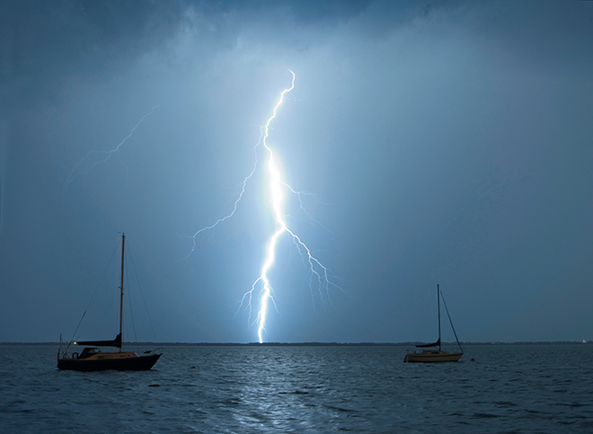 What Happens When A Yacht Is Struck By Lightning Cruising Compass