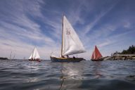 BROOKLINE, MAINE -- 06/29/2017 -- Students get ready to leave the moorings during a sailing class for women at the WoodenBoat School in Brooklin. Gabor Degre | BDN