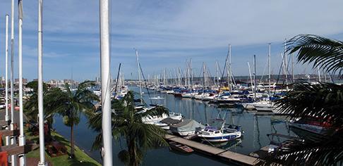 Point Yacht Club marina in Durban, South Africa