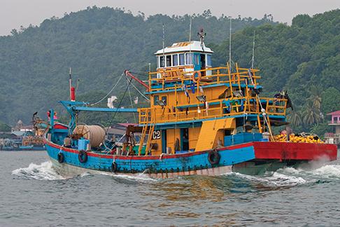 A Malaysian trawler near Malacca Strait